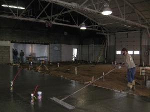 Indoor pour at Ogemaw County Jail